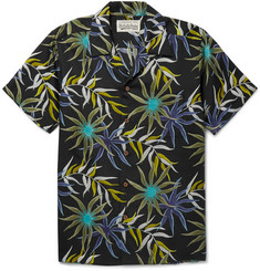 Wacko Maria Camp-Collar Printed Poplin Shirt
