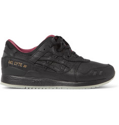 ASICS GEL-Lyte III Textured-Leather Sneakers
