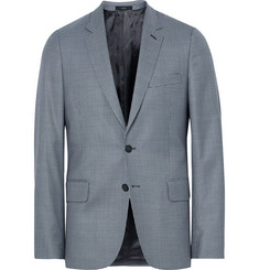 Paul Smith Blue Soho Slim-Fit Houndstooth Wool Suit Jacket