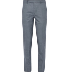 Paul Smith Blue Soho Houndstooth Wool Suit Trousers