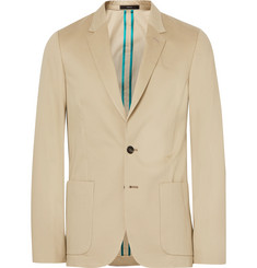 Paul Smith Beige Soho Slim-Fit Brushed-Cotton Suit Jacket