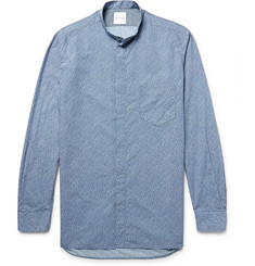 Paul Smith Grandad-Collar Floral-Print Cotton-Poplin Shirt