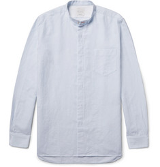 Paul Smith Slim-Fit Grandad-Collar Slub Cotton Shirt