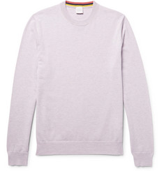 Paul Smith Mélange Cashmere, Cotton and Wool-Blend Sweater