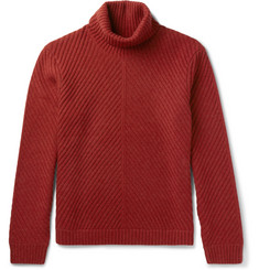 Enlist - Ribbed Merino Wool Rollneck Sweater