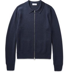 Enlist Merino Wool Zip-Up Cardigan