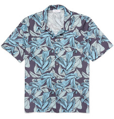 Enlist Slim-Fit Printed Cotton-Poplin Shirt