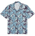 Enlist - Slim-Fit Printed Cotton-Poplin Shirt