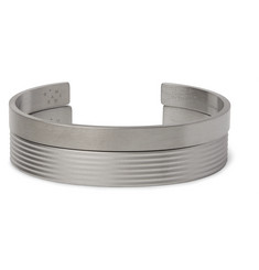 Le Gramme Le 21 and Le 33 Guilloché Sterling Silver Cuff Set