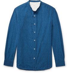 Officine Generale Gaspard Grandad-Collar Cotton-Dobby Shirt