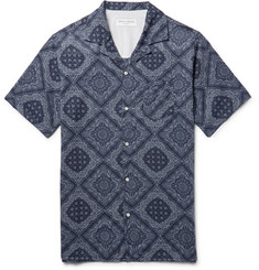 Officine Generale - Dario Camp-Collar Printed Cotton Shirt