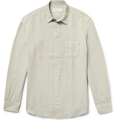 Officine Generale Benoit Slim-Fit Slub Linen Shirt
