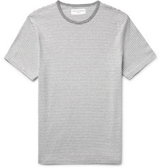 Officine Generale Slim-Fit Striped Cotton-Blend Jersey T-Shirt