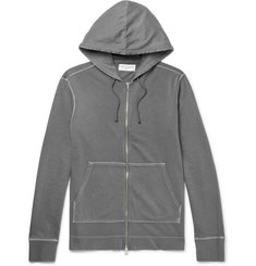 Officine Generale - Loopback Cotton-Jersey Zip-Up Hoodie