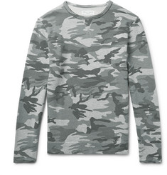 Officine Generale Camouflage-Print Loopback Cotton-Jersey Sweatshirt