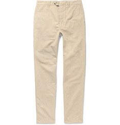 Officine Generale New Fisherman Slim-Fit Garment-Dyed Cotton and Linen-Blend Chinos