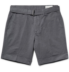 Officine Generale - Julian Slim-Fit Cotton and Linen-Blend Shorts