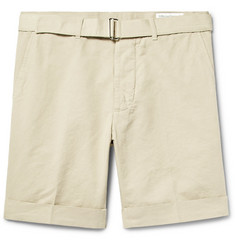 Officine Generale Julian Slim-Fit Cotton and Linen-Blend Shorts