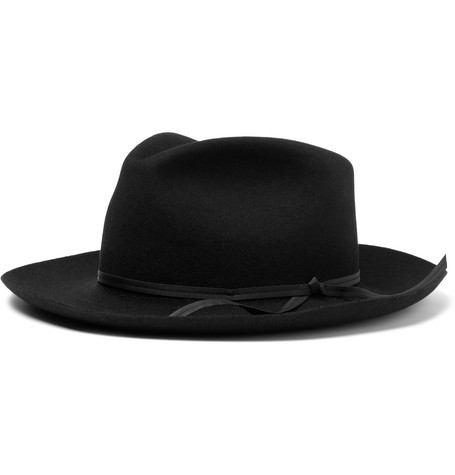 Strasberg Wool-felt Hat - Black