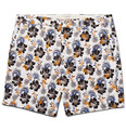 Club Monaco - Baxter Embroidered Printed Linen and Cotton-Blend Shorts