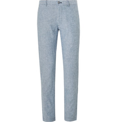 Club Monaco Slim-Fit Pinstriped Linen Trousers