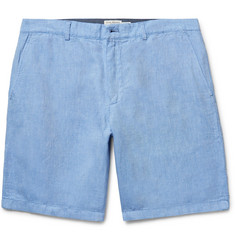 Club Monaco Maddox Linen and Cotton-Blend Oxford Shorts