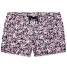 Club Monaco Arlen Slim-Fit Mid-Length Printed Swim Shorts