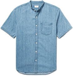 Club Monaco Grandad-Collar Denim Shirt