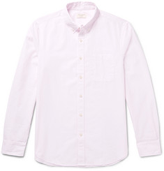 Club Monaco Slim-Fit Button-Down Collar Pinstriped Cotton-Poplin Shirt