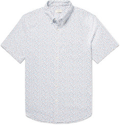 Club Monaco Button-Down Collar Floral-Print Cotton Oxford Shirt