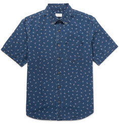 Club Monaco Floral-Print Cotton-Poplin Shirt