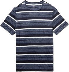 Club Monaco Striped Slub Linen T-Shirt
