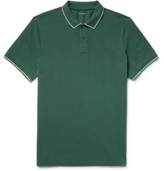 Club Monaco Contrast-Tipped Cotton-Piqué Polo Shirt