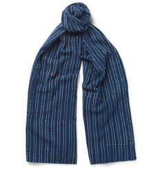 J.Crew Polka-Dot Cotton-Voile Scarf