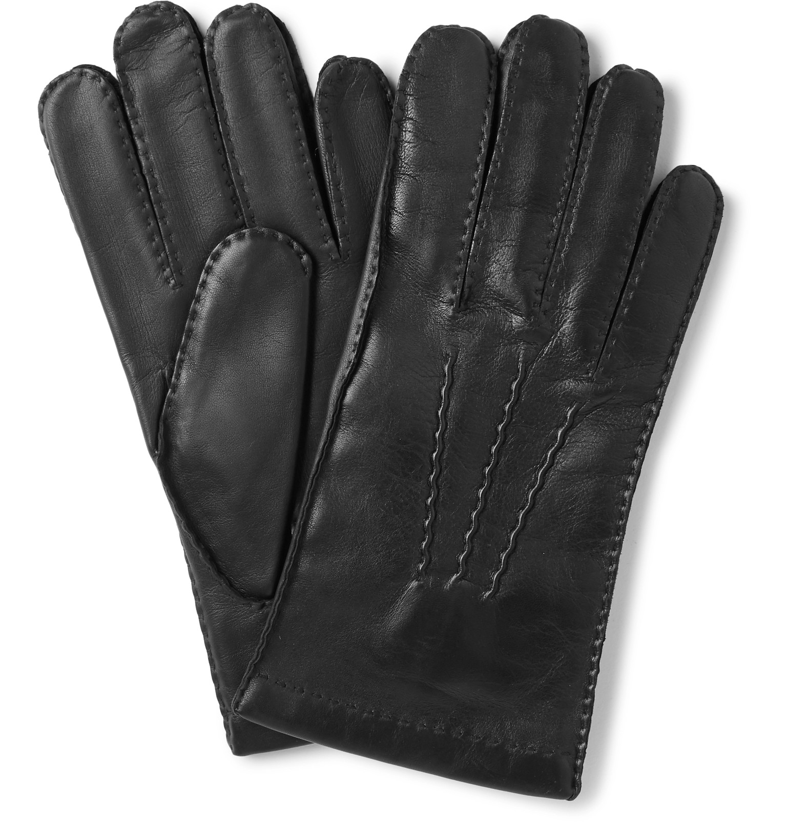 Xxl black leather gloves - Dentsshaftesbury Touchscreen Cashmere Lined Leather Gloves