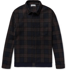 John Elliott Slim-Fit Checked Wool-Blend Flannel Overshirt