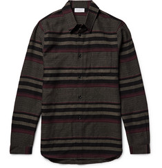 John Elliott - Slim-Fit Striped Virgin Wool Shirt
