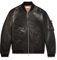 John Elliott Bogota Leather Bomber Jacket