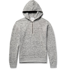 John Elliott - Mercer Mélange Fleece-Back Cotton-Jersey Half-Zip Hoodie