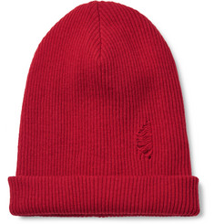 John Elliott Distressed Ribbed Wool Beanie