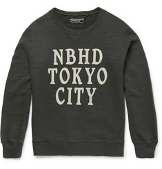Neighborhood Printed Loopback Cotton-Jersey Sweatshirt