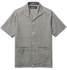 Neighborhood Le Mal Camp-Collar Embroidered Cotton Shirt