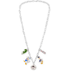 Gucci Sterling Silver Enamel Necklace