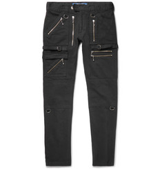 Blackmeans Skinny-Fit Zip-Detailed Cotton-Canvas Trousers