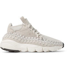 Nike NikeLab Air Footscape Woven Chukka Faux Suede and Neoprene Sneakers