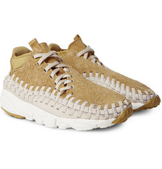 Nike - NikeLab Air Footscape Woven Chukka Faux Suede and Neoprene Sneakers