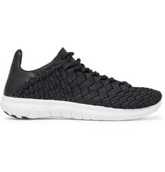 Nike NikeLab Free Inneva Leather-Trimmed Mesh Sneakers
