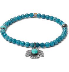 Peyote Bird - Lapis, Turquoise and Sterling Silver Bracelet