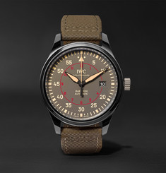IWC SCHAFFHAUSEN Pilot's Mark XVIII TOP GUN Miramar 41mm Ceramic and Leather Watch