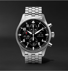IWC SCHAFFHAUSEN Pilot's Chronograph 43mm Stainless Steel Watch